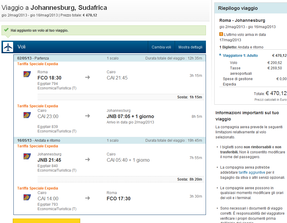 Egyptair Airline Tickets Prices