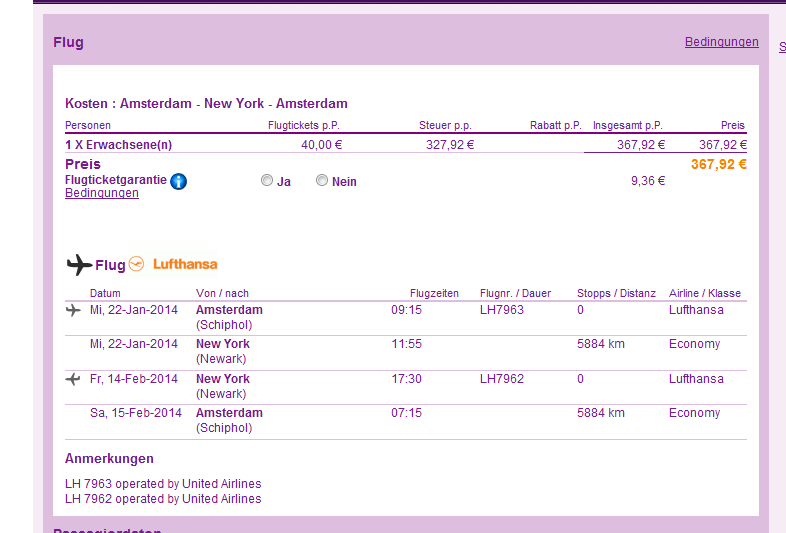 Cheap flights from Amsterdam to New York