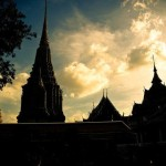 Cheap open jaw flights to Thailand amazing temple Bangkok