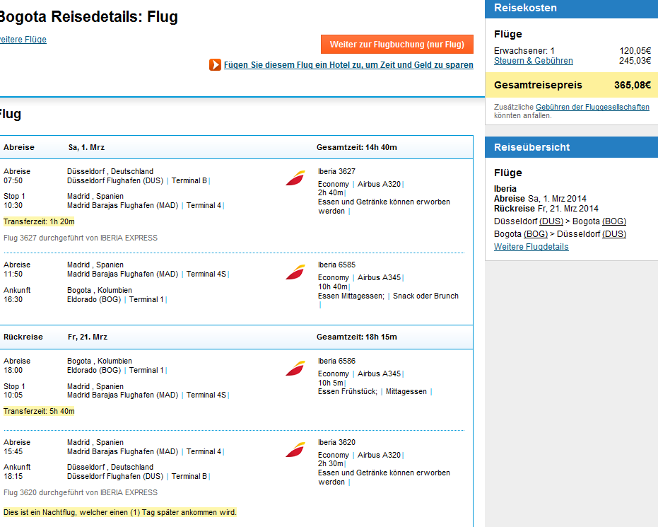 Error fare deal - cheap flights from Germany to Colombia or Venezuela for €364!