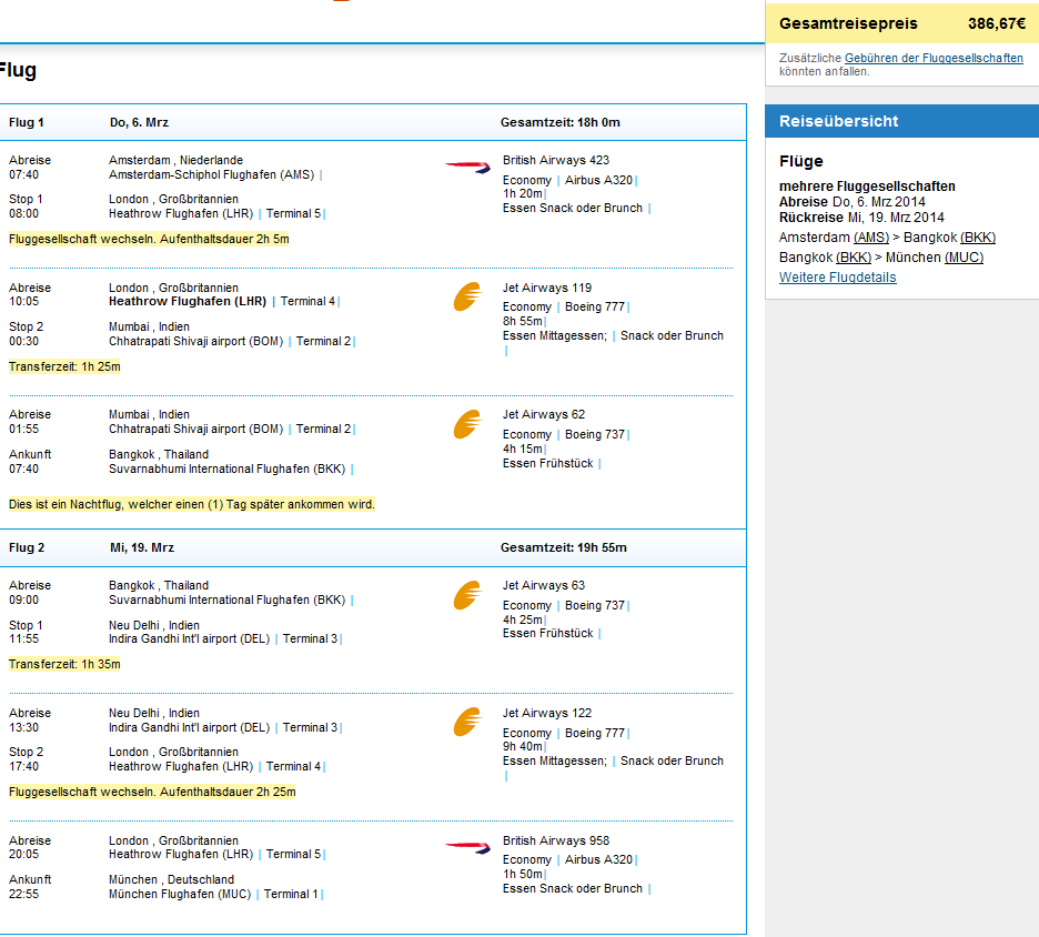 Cheap open jaw flights to Thailand: Amsterdam - Bangkok - Germany from €386!!
