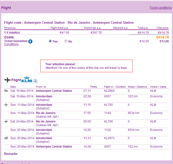 KLM - cheap flights from Belgium to India from €371 or Brasil €415!!