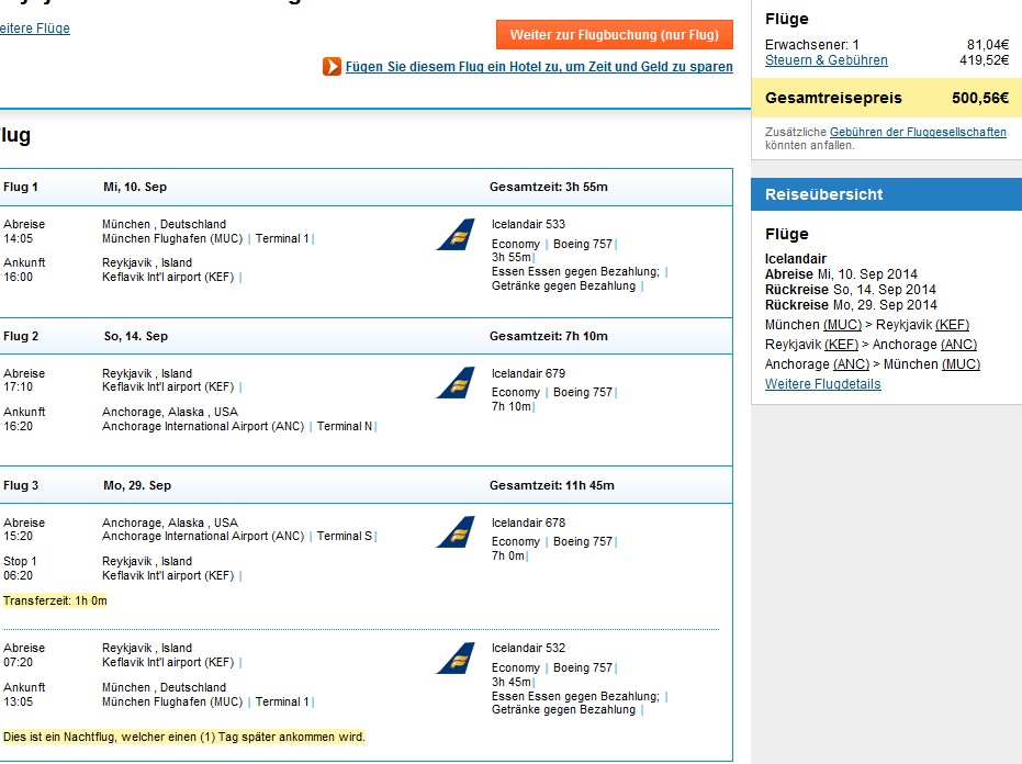 Fly to Iceland and Alaska from Germany at once for €500!!