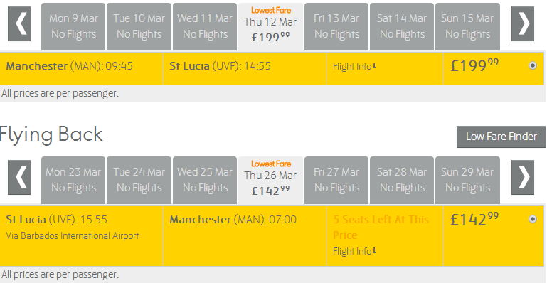 Cheap Flights From Uk To Caribbean Manchester To St