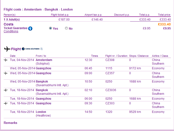 Cheap open-jaw flights to Bangkok from Ł315/€394 (main season!)