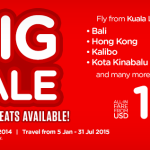 Air Asia BIG sale promotion: flights from USD 8 one-way!