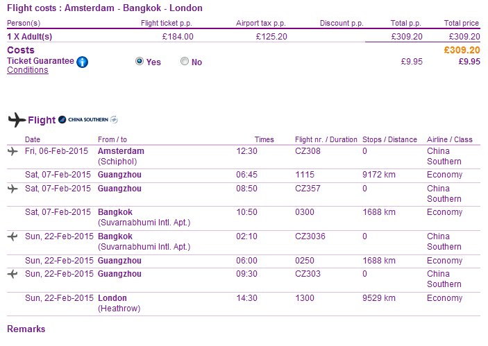 Cheap open-jaw flights to Bangkok from Ł309/€386 (main season!)