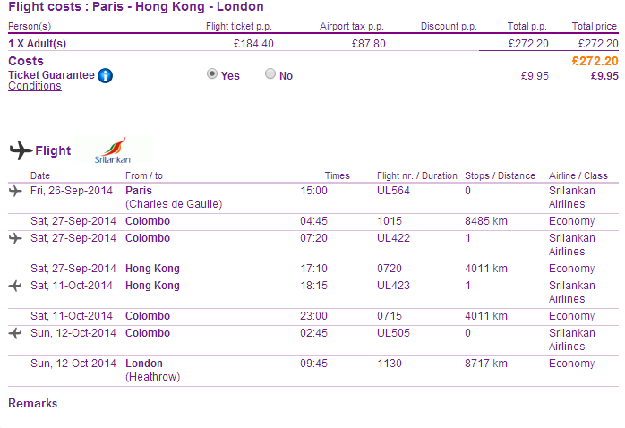 Open-jaw flights to Hong Kong from Europe from Ł272 (€339)!