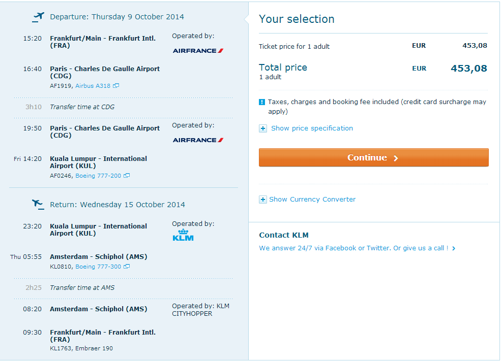 WOW with KLM/AF - flights to Kuala Lumpur from Germany €453!