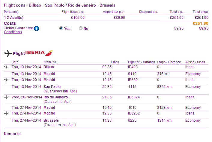 Iberia - cheap open-jaw flights to South America from €233/Ł185!!