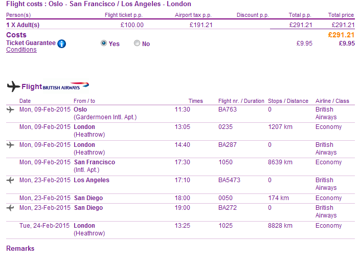 BA: Cheap open-jaw flight to California from Europe from Ł291 (€365)!