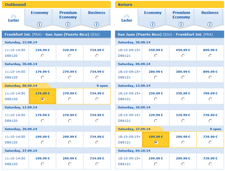 Cheap non-stop flights to Puerto Rico from Germany from €380!