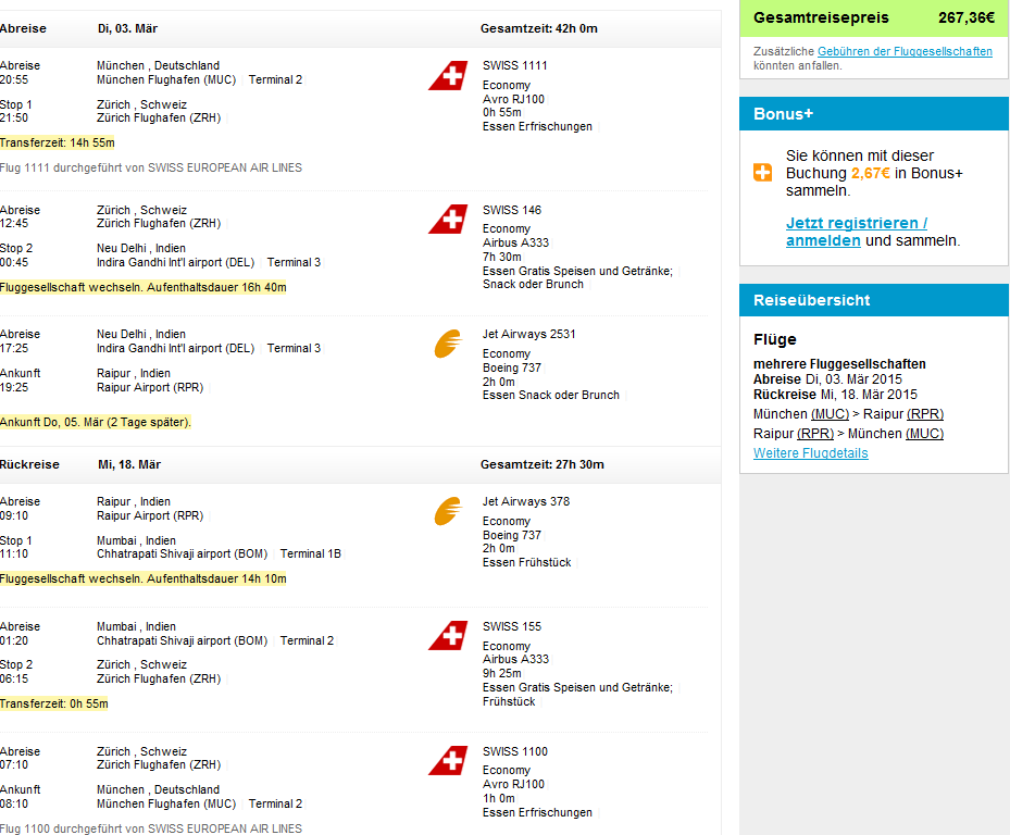 Error fare flights to India - return tickets from Europe from €156!