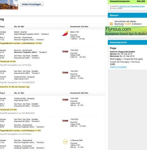 Open Jaw Flights From Europe To Paraguay Iguazu Falls