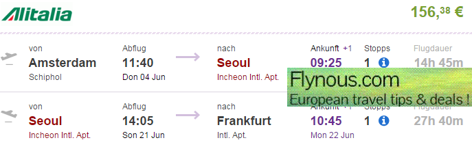 Error-fare-flights-to-Asia-South-Korea-Seoul-from-UK-London-Germany-best-travel-deals-2015-Alitalia