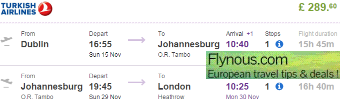 Cheap flights to johannesburg return or open jaw tickets for Cost of plane ticket to germany