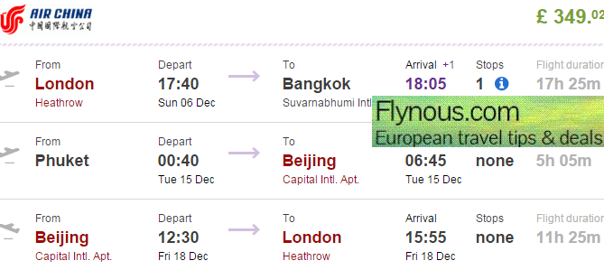 Cheap multi-city flights from London to South East Asia & China £349!