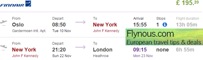 Cheap open jaw flights to New York (return to London) from £195!