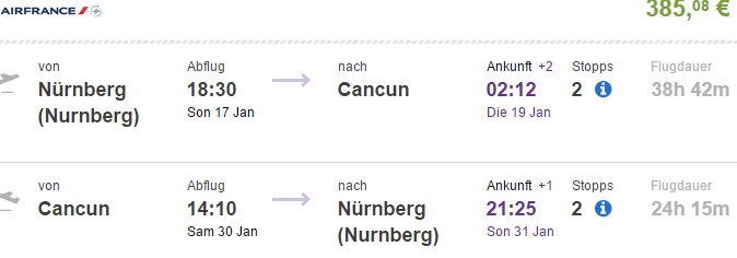 Flights from Germany to Cancun €385 (main season 2016!)