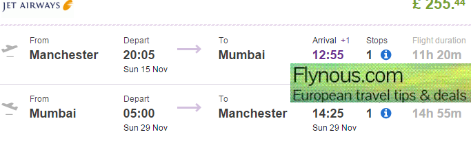 Cheap return flights from UK to India from £255!