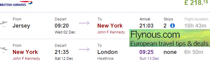 Cheap British Airways flights from UK to New York from £212!