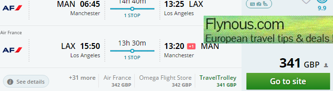 Cheap return flights from UK to Los Angeles £341!