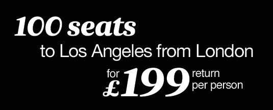 Direct flights from London to Los Angeles £199