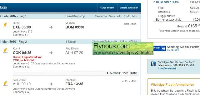 Europe to Dubai and India at once already for €239!