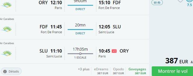 Two Caribbean isles at once from France in main season €387!