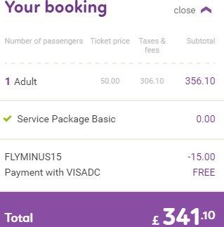 Budgetair.co.uk promotion code - £15 discount all flights!