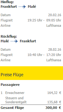 Direct flights from frankfurt to exotic maldives for 300 for Lufthansa direct flights to germany
