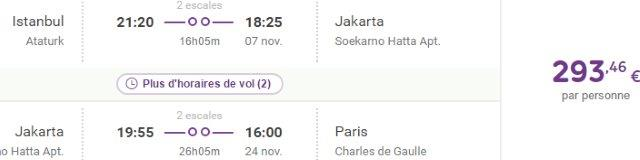 Cheap open jaw flights to Indonesia from €293!