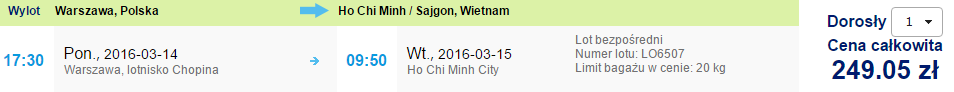 One-way flight from Poland to Vietnam for €57!