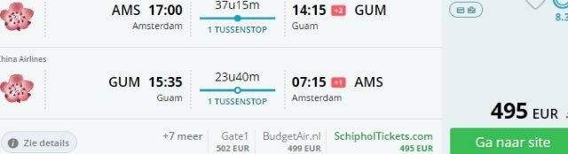 Fly cheap to exotic Marianna Islands. Air tickets from Amsterdam €495!