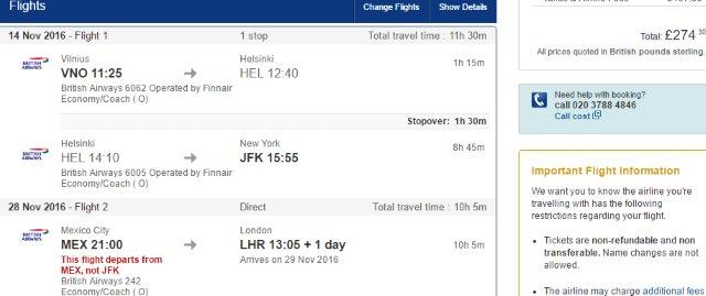 Doj Flights To Usa Amp Return From Mexico City To Uk From 163 274