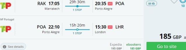 Cheap open jaw flights to Brazil from €217/£185!