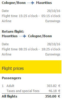 Cheap direct flights from Germany to exotic Mauritius €350!