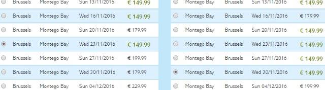 Cheap roundtrip flights to Jamaica in Caribbean from Brussels €300!