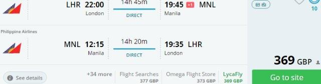 Non-stop flights from London to Manila from £369!