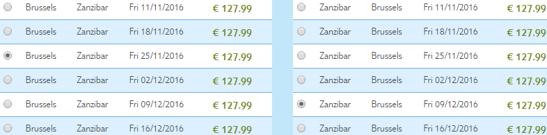 Cheap last minute flights to Zanzibar from Brussels for €256!