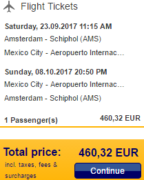Cheap flights from Netherlands to Mexico City from €460!