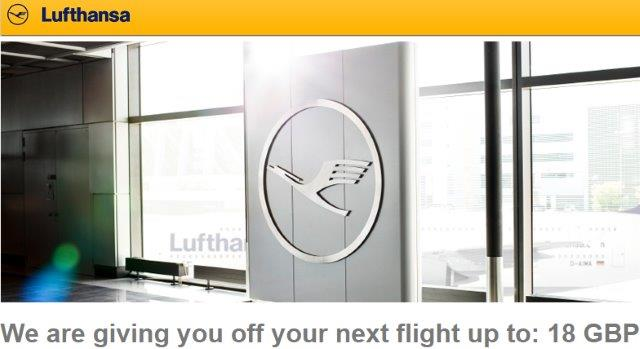 Lufthansa promotion code 2016 – £18 discount on flights from UK!
