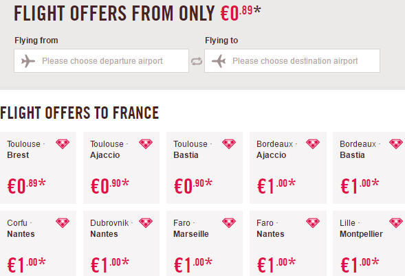 Volotea promotion sale 2016 - flights from €0.89 one way!