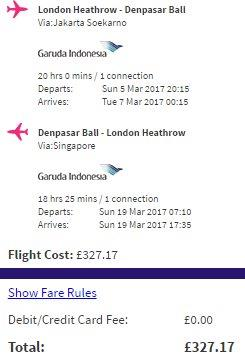 Garuda Indonesia flights from London to Jakarta, Bali, Lombok from £327!