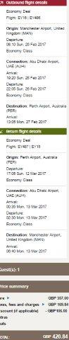 Etihad Airways - cheap return flights from UK to Australia from £421!
