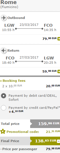 "Vueling ""Yellow Friday"" promotion - 50% discount off base fare! (2 travellers)"