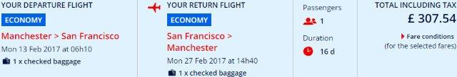 Air France cheap flights from the UK to San Francisco £307!