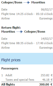 Cheap direct flights from Germany to exotic Mauritius €300!