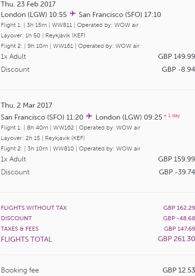 WOW air promotion code 2017 - 30% discount all flights!