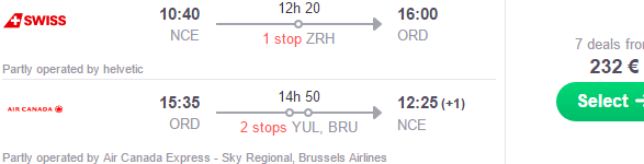 Return Flights From France To Chicago 232 Or Los Angeles